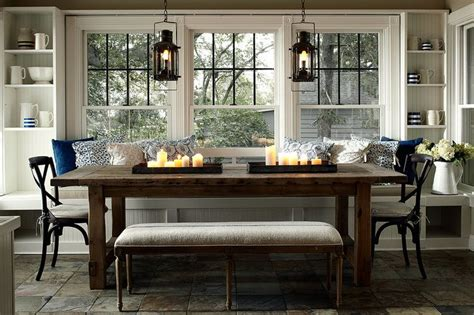 breakfast room banquettes farmhouse banquette dining room for improvement pinterest
