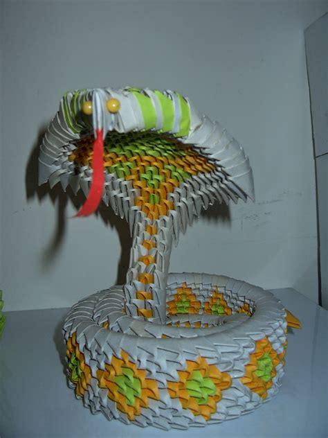 ichanoko  origami indonesia  origami animals snake ular cobra