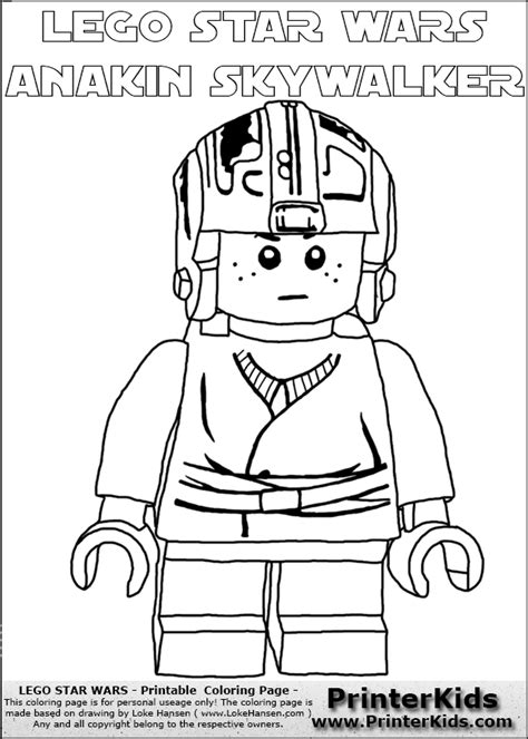 lego wars anakin coloring pages lego wars anakin skywalker coloring pages