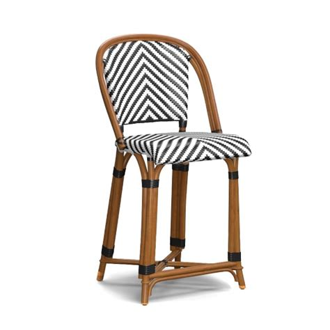 Bistro Style Counter Stools by Parisian Bistro Woven Counter Stool Williams Sonoma