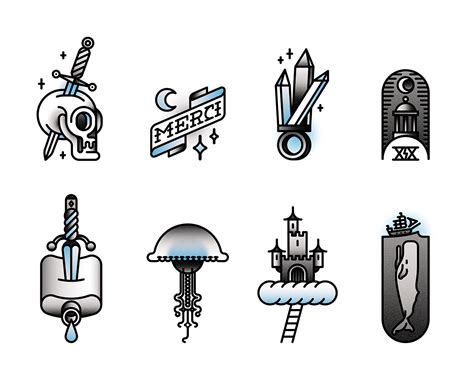 tattoo flash graphics tattoo flash vector on behance