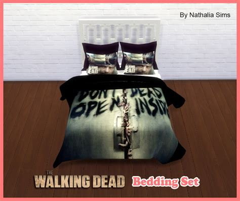the walking dead bedding set at nathalia sims 187 sims 4 updates