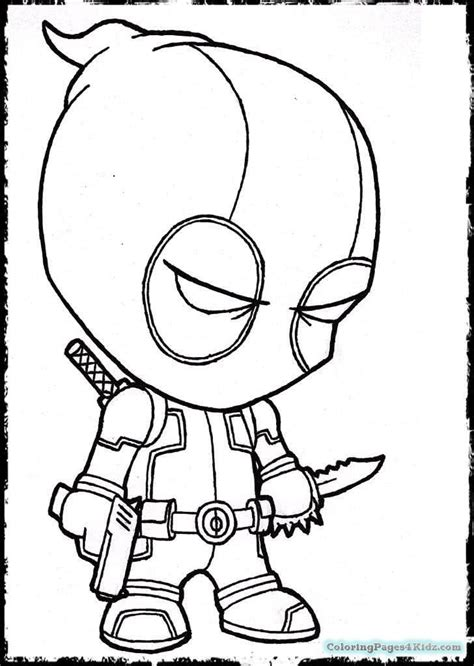 deadpool chibi coloring pages coloring pages for kids