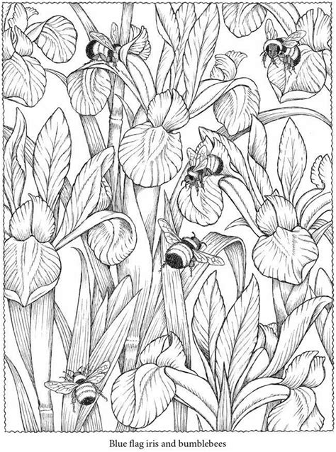 coloring pages bees flowers flower and bees colouring mindfully pinterest flower