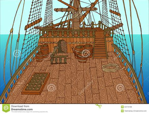 background   sailing ship deck stock vector image