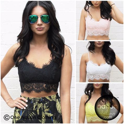 Blouse Wanita Filea Top halter top zipper bralette eyelash lace blouse wanita size