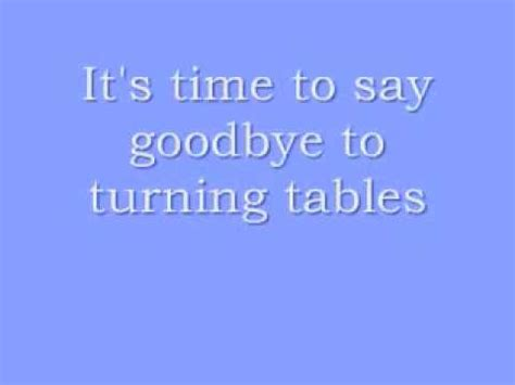 Tables Turned Lyrics by Turning Tables Glee Version Lyrics