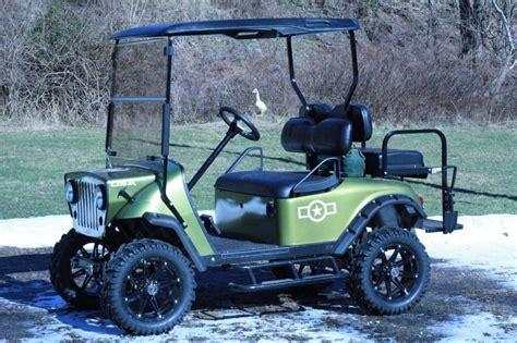 Golf Cart Lights Refurbished 2003 Txt Custom Jeep Front End 5 Lift Kit