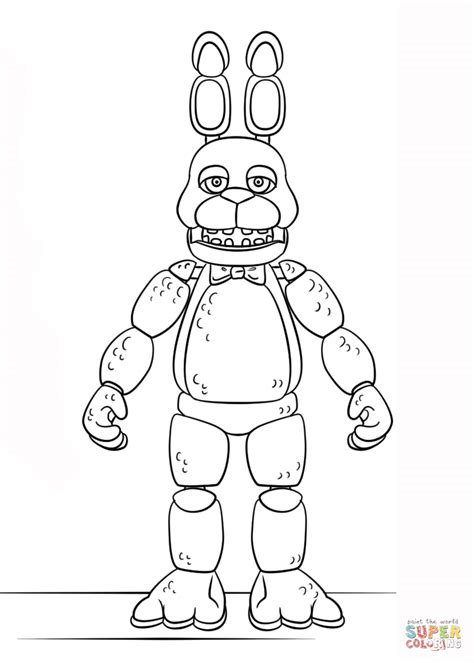 Fnaf 1 Coloring Pages by Fnaf Bonnie Coloring Page Free Printable Coloring Pages
