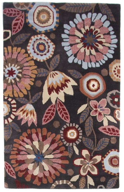 Beautiful Wool Area Rug Contemporary Modern Floral Hand Contemporary Floral Area Rugs