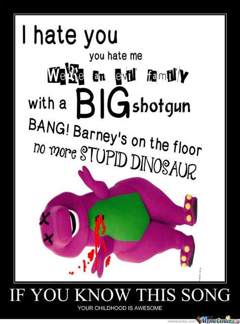 Barney Meme - barney evil song by melolluvmemes meme center