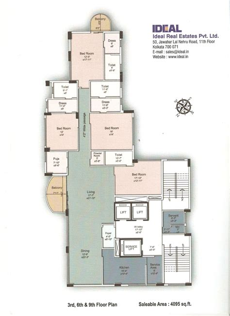 Fllor Plans Floor Plans Ideal Legacy Iron Side Road Opposite Birla Mandir Ballygunj Kolkata Ideal