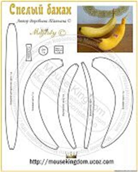 pattern felt banana 25 best images about free felt food patterns on pinterest