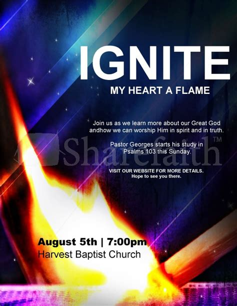 Ignite Church Flyer Template Flyer Templates Ignite Powerpoint Template