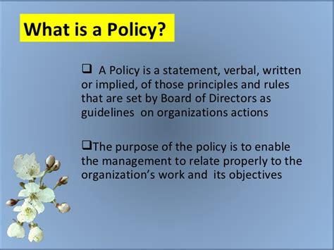 what is a what is a policy
