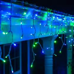 led christmas lights 70 5mm blue green led icicle lights
