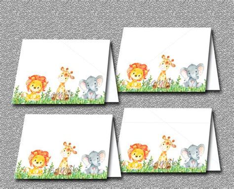 Baby Shower Place Cards Printable