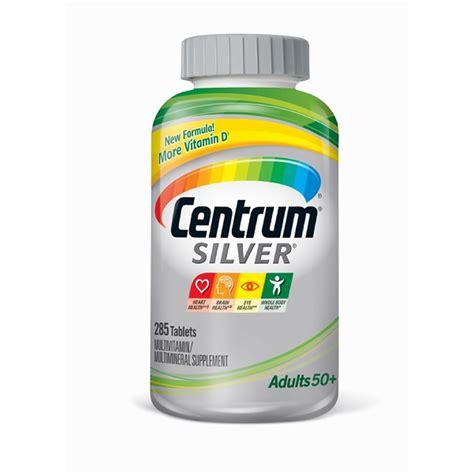 Vitamin Centrum centrum silver multivitamin and multimineral supplement 285 ct bj s wholesale club