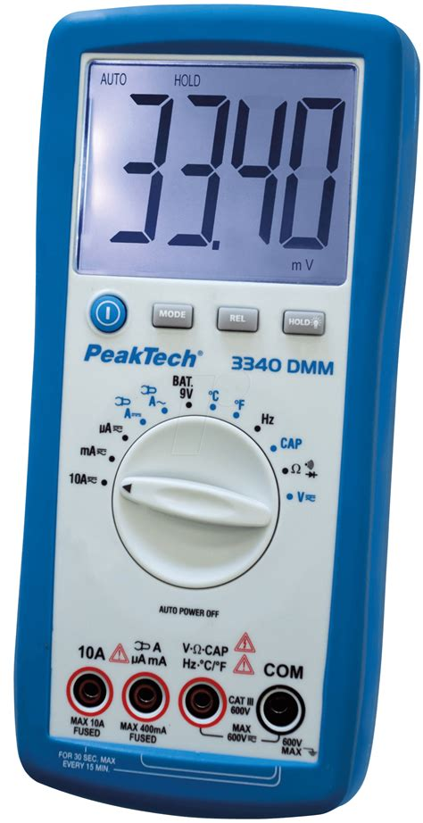 Multimeter Elektronik peaktech 3340 digital multimeter at reichelt elektronik