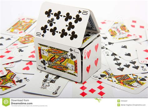 how do you make a house of cards house of cards royalty free stock photography image 7010447