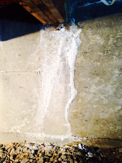 White Powder On Basement Walls by Efflorescence