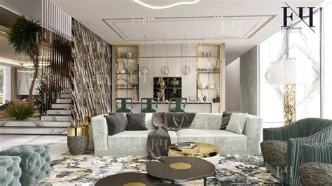 luxury modern villa interior design  dubai uaefancy