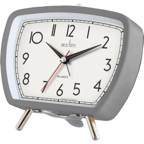 Bedside L With Clock by Acctim Tolworth Retro Bedside Table Alarm Clock Black