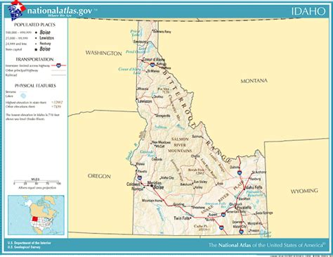 printable map idaho printable maps reference