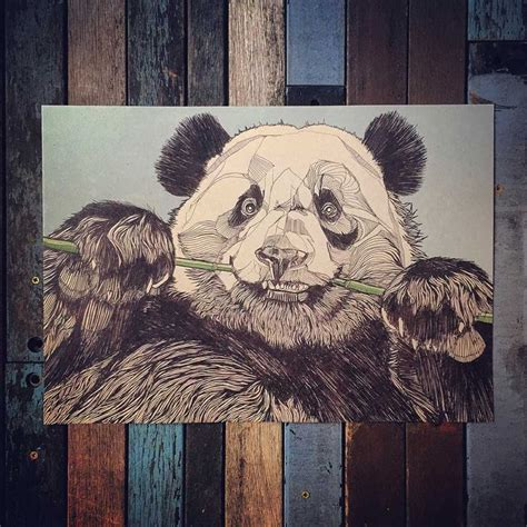 luke dixon panda a3 limited edition print wpap low poly limited edition