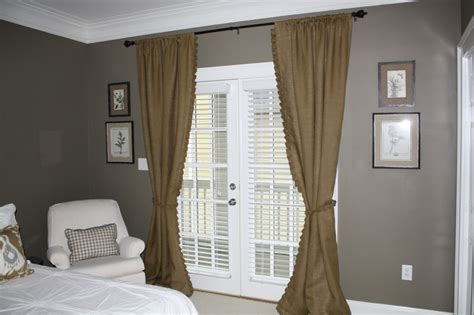 greige curtains guest room burlap pleated curtain panels greige walls