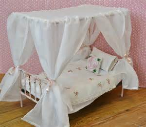 Doll Canopy Bed Bedding Canopy Bed Doll Bed Metal Playscale Blythe