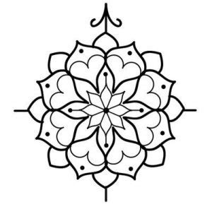 simple mandala tattoo designs tattooic