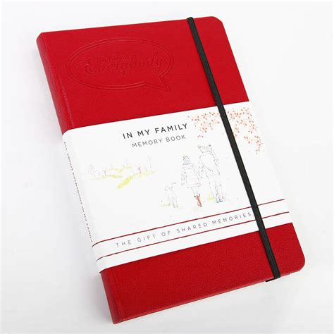 red cherry red book all about everybody in my family memory book by red cherry publishing notonthehighstreet com
