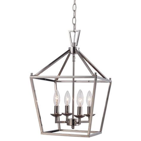 Bird Cage Pendant Light Bel Air Lighting 4lt Polished Chrome Pendant Bird Cage 10264 Pc The Home Depot