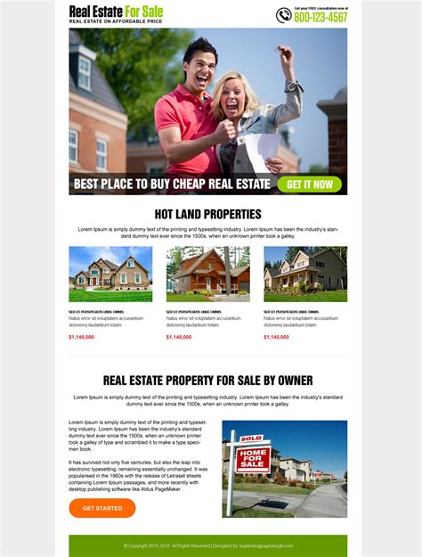 20 Flat Discount On Landing Page Design Developer Purchase Best Real Estate Landing Page Templates