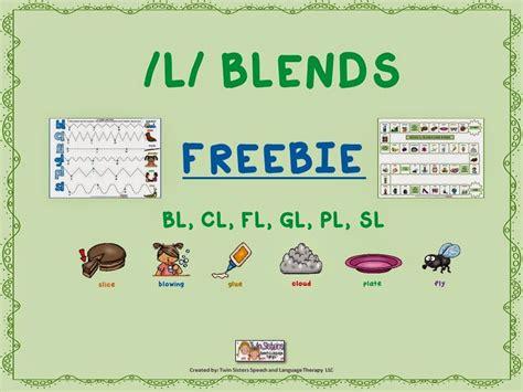 L Blend Worksheets by Speechie Freebies Mixed L Blends Articulation Freebie