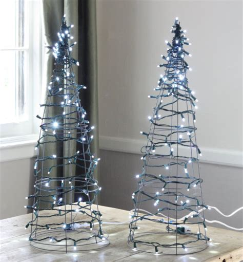 17 apart diy tomato cage christmas tree lights