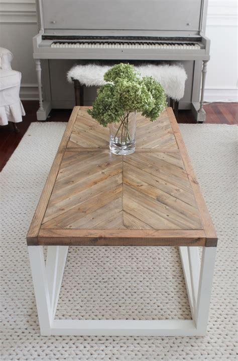 Modern Farmhouse Herringbone Coffee Table Shades Of Blue