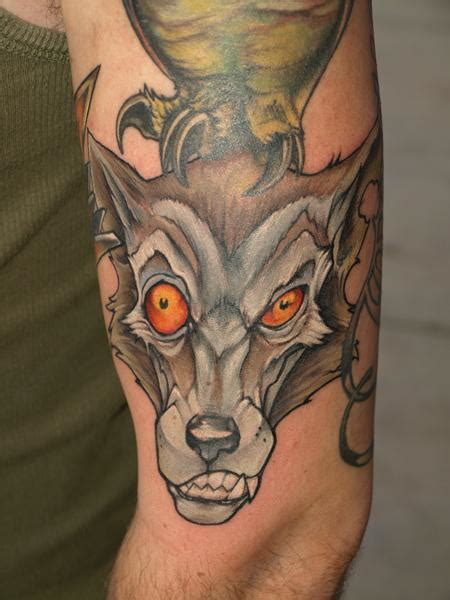 tattoo wolf new school wolf with different eyes tattoo wolf tattoos