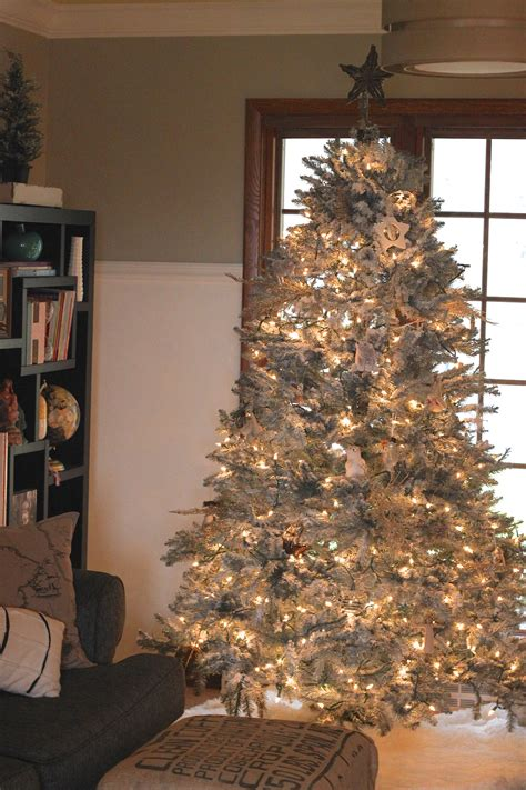 diy flocked christmas tree the holzmanns