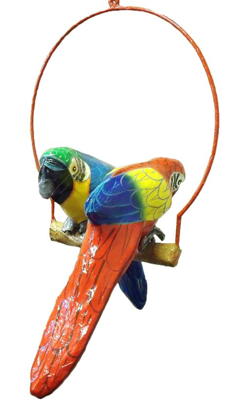 Parrot Decor tropical blue parrot haitian paper mache decor ebay