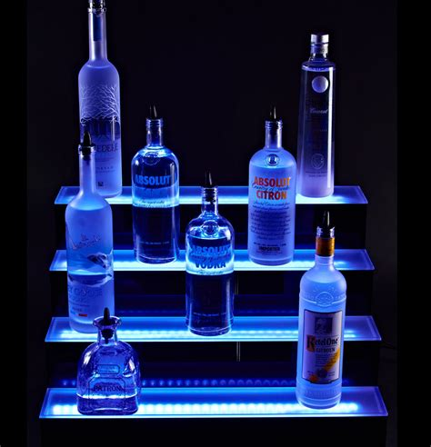 Bottle Display Shelf by Armana Acrylic New Wall Mounted 4t 24 Quot Led Lighted Liquor