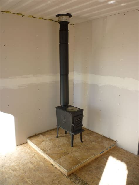 stove chimney installing wood stove chimney through roof
