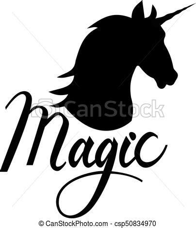 imagenes vectoriales gratis siluetas texto cabeza silueta unicornio magia cabeza silueta