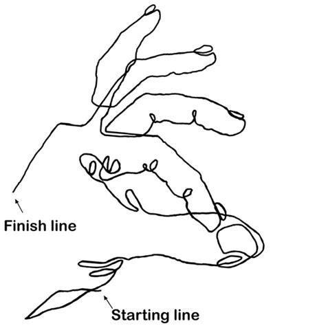 Blind Contour Drawing Lesson mhsartdrawingm contour drawing