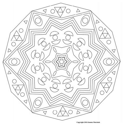 How To Draw Complex Mandala Complex Mandala Coloring Pages