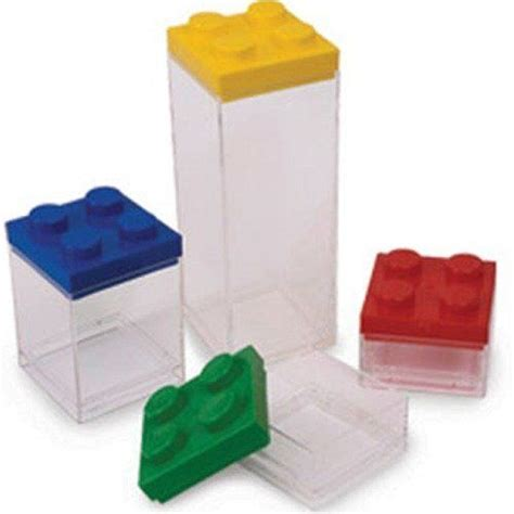 Kitchen Canisters Set Of 4 Amazon Com Lego Kitchen Canisters Storage Set 852528