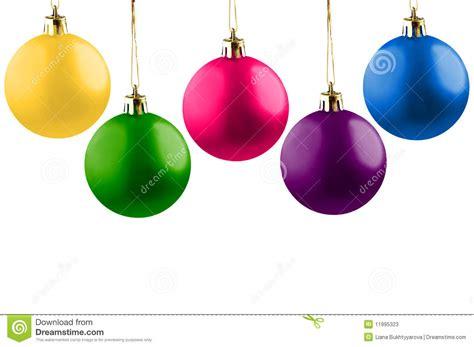 imagenes alegres de navidad cinco bolas alegres de la navidad fotos de archivo