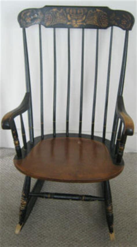 vintage l hitchcock rocking chair antique antique