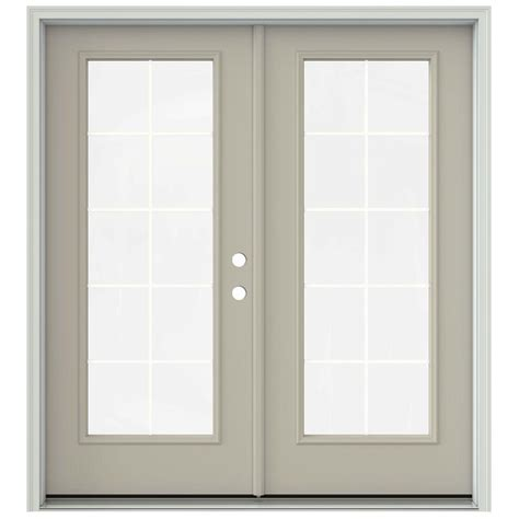 Jeld Wen 72 In X 80 In Steel White Left Handed Outswing Steel Patio Doors